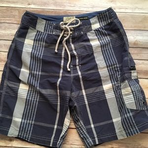 J Crew blue plaid bathing suit